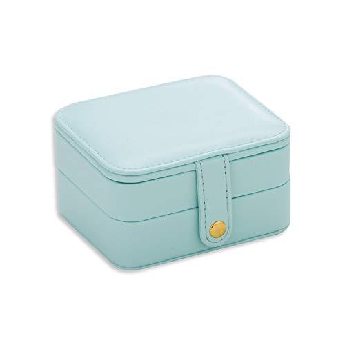 Nigel Tomm Caja de Embalaje para Joyas, Caja de Maquillaje para cosméticos exquisitos, organizadores de Belleza, Cajas de recipientes para Regalo de cumpleaños o graduación, Verde, Size
