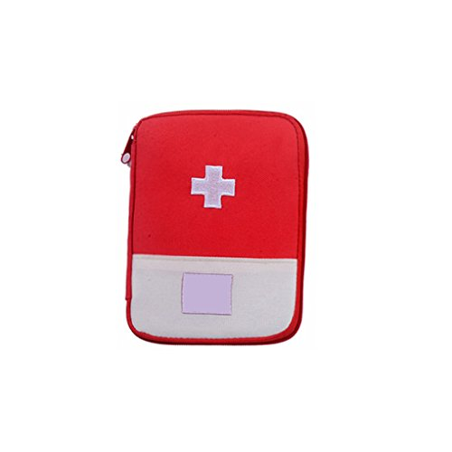 QHGstore Camping Sac médical d'urgence de survie Trousse de secours Sac Accueil Voyage rouge S