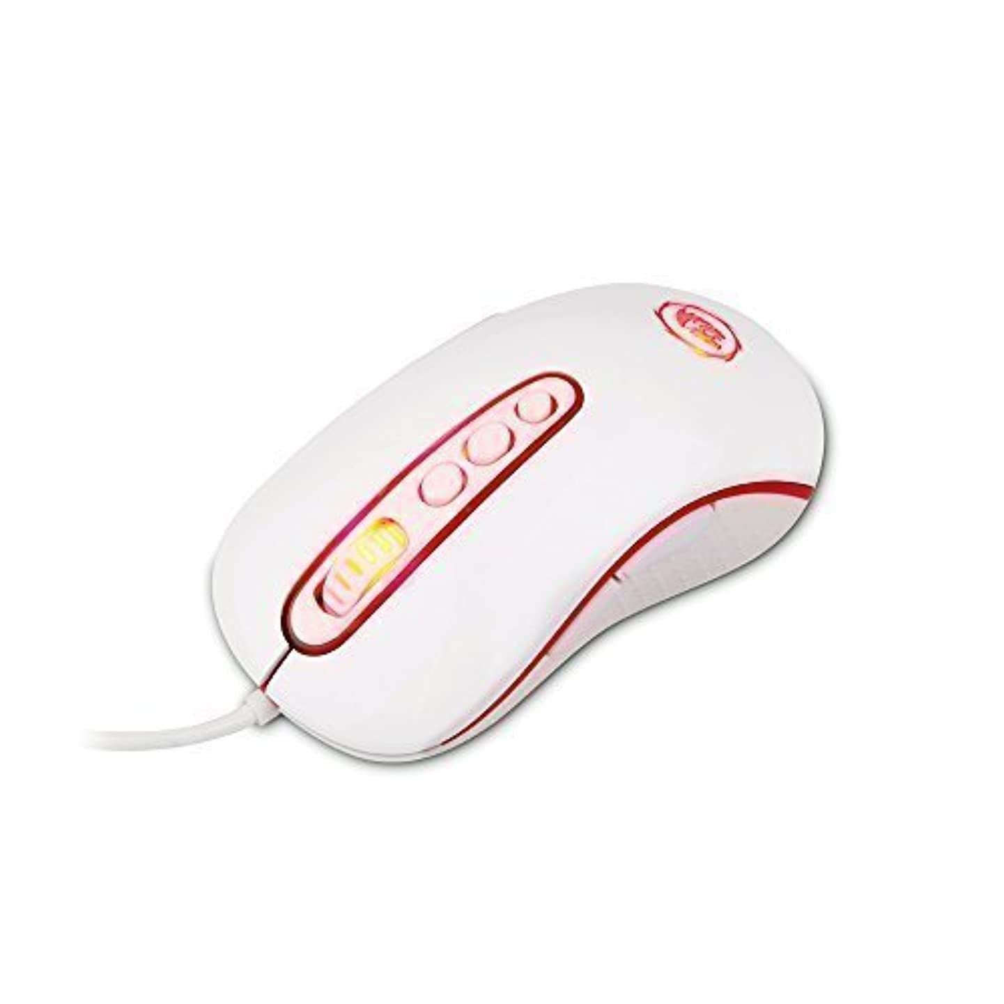 Redragon M702 Phoenix 4000 DPI USB Customizable Gaming Mouse for PC, 10 Buttons, 5 Programmable User Modes, Weight and Balance Tunable, LED Backlighting (White)