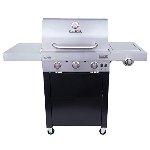 Char-Broil 463342420 Signature TRU-Infrared 3-Burner Cart Style Dual Fuel Gas Grill, Stainless/Black