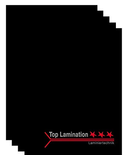 Top Lamination Laminiertechnik Schwarzes Bastel-Papier Tonpapier Tonkarton 10 Blatt DIN A3 (297x420mm) 320g für Scrapbooking Bastelkarton DIY Kreative Ideen