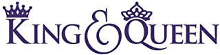 King and Queen Quote Vinyl Wall Decal Sticker Art, Removable Words Home Decor, Purple, 22in x 5.5in