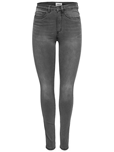Only Onlroyal High SK Dnm Jeans Bj312 Noos Vaqueros Skinny, Gris (Dark Grey Denim Dark Grey Denim), W30/L32 para Mujer