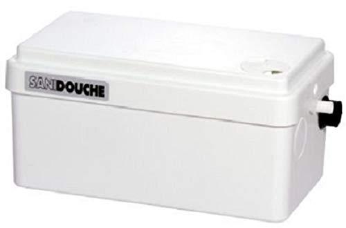 SFA 0016P Pompe de relevage SANIDOUCHE + | permet d'installer une douche où vous le souhaitez sans engager de gros travaux, Blanc
