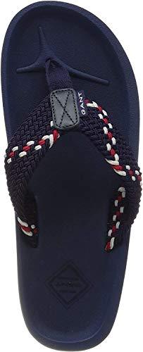 GANT Footwear Herren Breeze Zehentrenner, Blau (Marine G69), 43 EU