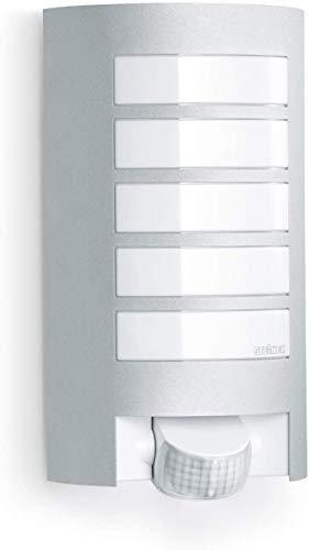 Steinel L12 Buitenlamp, Bewegingsmelder, 180 Graden Bereik, 10 m Bereik, Robuust Aluminium Scherm, E27, Max. 60 W, Zilver