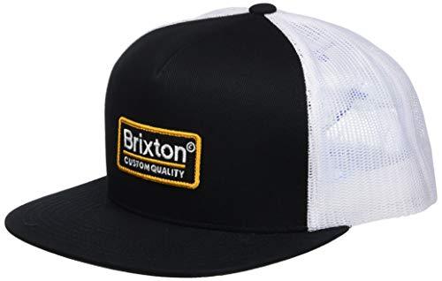 Brixton Men's Palmer MESH Cap, Black/White/Gold, O/S