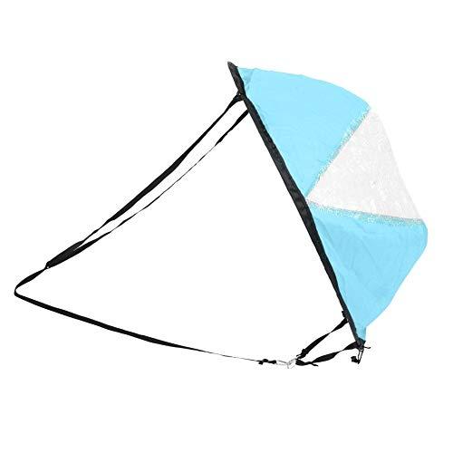 Naroote 【𝐇𝐚𝐩𝐩𝒚 𝐍𝐞𝒘 𝐘𝐞𝐚𝐫 𝐆𝐢𝐟𝐭】 Faltbares Kanusegeln, faltbares Kanusegeln, 1PCS aufblasbare Ausrüstung Kajak Kanu Boot Wassersport für Spaß im Freien(Blue, Kayak Sailing sail)