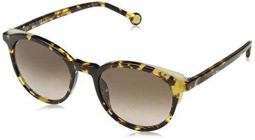 Carolina Herrera Donna SHE742 Occhiali da sole, Marrone (Shiny Yellow Havana)
