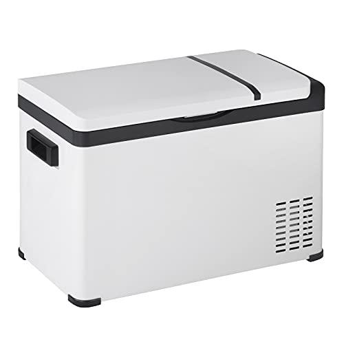 WOLTU Kühlbox Kühltruhe Gefriertruhe Mini Kühlschrank elektrisch klein warmhaltebox für essen Kühlbox mit Akku für Auto LKW PKW Wohnmobil Camping Boot und Steckdose 30 L 12V/24V/220-240V KUE011wsz