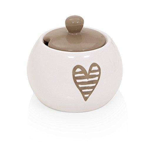 Brandani 55677, zuccheriera Batticuore colore tortora in stoneware
