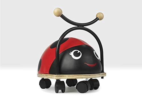 Ladybird Ride on Toy with Wheels for 1 to 3 year olds by Beehive Toys
