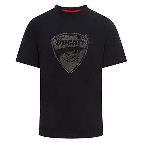 Whybee 2019 Ducati Corse Racing MotoGP Herren T-Shirt, großes Logo, 100% Baumwolle, S-XXL, schwarz, Mens (XL) 112cm/44 inch Chest