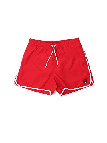 FILA Badehose Herren SATOMI Swim Shorts 687560 006 True Red Rot, Größe:L