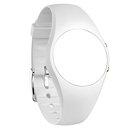 feifuns Replacement Band for Non-Bluetooth Swimming Watch Water-Resistant Pedometer Watch (White)
