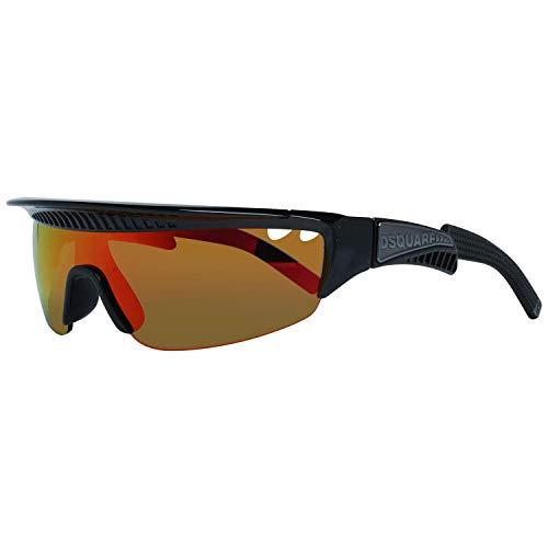 DSQUARED2 Gafas de sol DQ0329 05U negro rojo tamaño de 99 mm gafas de sol hombre