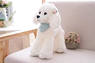 EXTOY Cute Poodle Teddy Dog Simulation Stuffed Animal Plush Toy Girls Birthday Gift Home Decoration Toddler Must Haves Girls Favourite Characters Superhero Cake Topper LOL UNbox