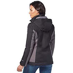 Free Country Women's Innovator 3-in-1 Systems Jacket (Black, Medium)