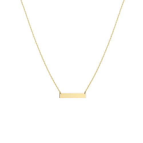 S.J JEWELRY Womens Simple Delicate Handmade 14K Gold Plated Simple Delicate Heart and Bar Chokers Necklace CK-Bar