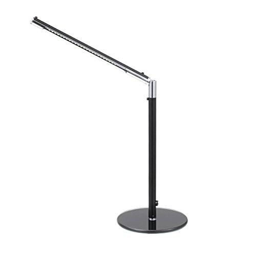 ledmomo lámpara de escritorio plegable a LED con puerto USB de carga Sensor Touch Touch lámpara regulable para la cura del ojo 3niveles de luminosidad Light 4.5W-BLACK (Europe Standard Adapter)