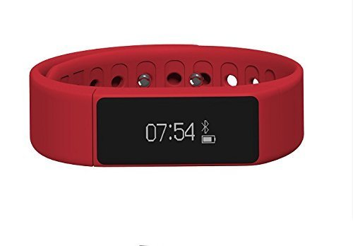 I5 PLUS Smart Watch,Facleta Bluetooth Bracelet Band WristWatch Activity Monitor SYNC Phone SMS,for IPhone6/PLUS,SAMSUNG Smartphones-RED by Shenzhen Kalong electronic