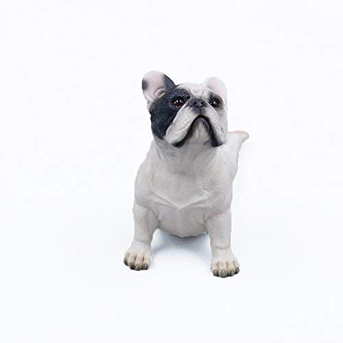 ARTGENIUS Dog Collection-Resin French Bulldog Statue Bulldog Figurine Small,Lying (White Pirates)