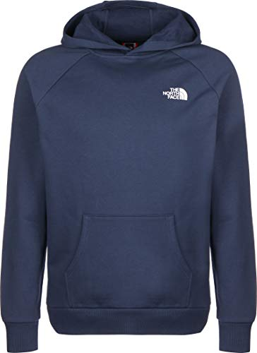 The North Face Men Hoodie Raglan Red Box, Taglia:S, Colore:Blue Wing Teal