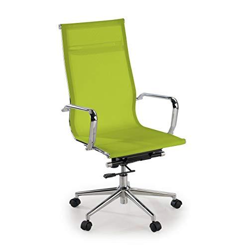 Ofiprix | Silla Slim | Silla de Oficina Giratoria | Silla Escritorio de Diseño | Respaldo de red Alto | Mecanismo Sincronizado | Uso Profesional | Malla Transpirable | acabado premium | Color verde