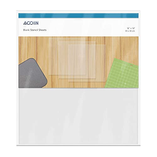 12 Pieces 4 mil Blank Stencil Material Mylar Template Sheets for Stencils, 12 x 12 inches