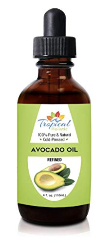 100% Pure Refined Avocado Oil 4 oz - Premium Natural Cold Pressed Oil - Best for Hair Growth, Face,...