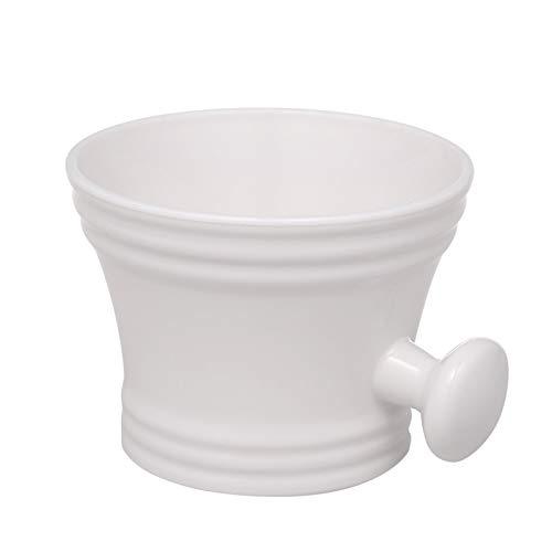 Layhou Taza de plástico para hombre, cuenco de afeitar con mango de jabón, taza de sopa de limpieza, peluquería para maquinilla de afeitar, cuidado personal