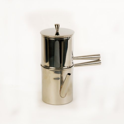 Ilsa - Neapolitan Coffee Maker 6 Cup Size - Stainless Steel - Made in Italy