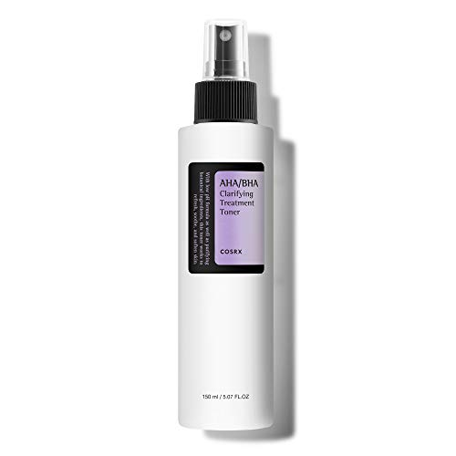 COSRX AHA/BHA Clarifying Treatment Toner, 5.07 fl.oz / 150ml | Exfoliating Facial Spray | Korean Skin Care, Hydrating, Mild Exfoliation, Vegan, Cruelty Free, Paraben Free
