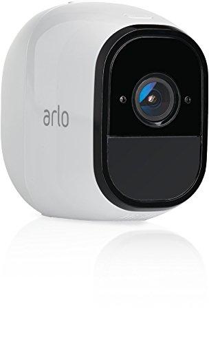Arlo Pro Überwachungskamera & Alarmanlage, Zusatzkamera, Smart Home, kabellos, Innen / Aussen, Nachtsicht, Bewegungsmelder, 130 Grad Blickwinkel, WLAN, 2-Wege Audio, wetterfest, VMC4030, weiß