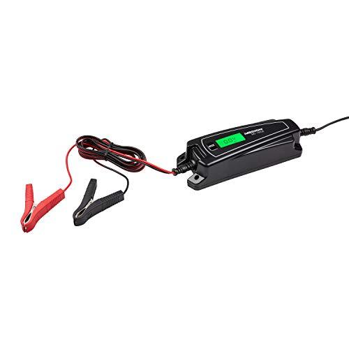 MEDION KFZ-Batterieladegerät, LC-Display, auch für Motorradbatterien, mikroprozessorgesteuerter Ladevorgang, Wiederbelebungsmodus (6V/12V), MD15526