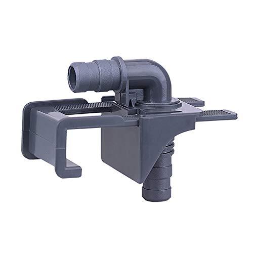 DANXQ Lot de 2 supports pour outils d'aquarium 4 trous pour tuyau d'eau avec vis de réglage multi-trous Transparent