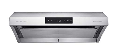 Hauslane | Chef Series Range Hood 30' PS38 PRO PERFORMANCE Stainless Steel Slim Under Cabinet Range Hood Design | Steam Auto Clean, Touch Panel | Superior Perimeter Aspiration Extraction