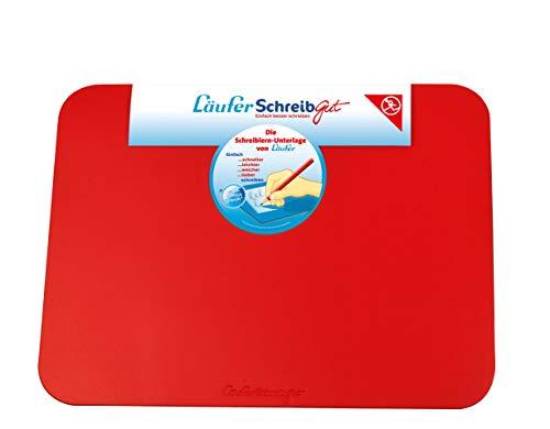 Läufer 30917 SchreibGut Schreibtischunterlage zum Schreiben lernen, für den perfekten Schulanfang, verschiedene Farben, 33,5 x 45 cm, rot