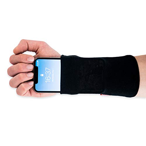 Runamics | Smartphonetasche für den Unterarm | Joggen, Laufen, Fitness, Sport | aus Bambus-Viskose und Baumwolle | Smartphone Armband, Handy Armtasche, Joggingtasche, Sportarmband, Handgelenktasche (M)