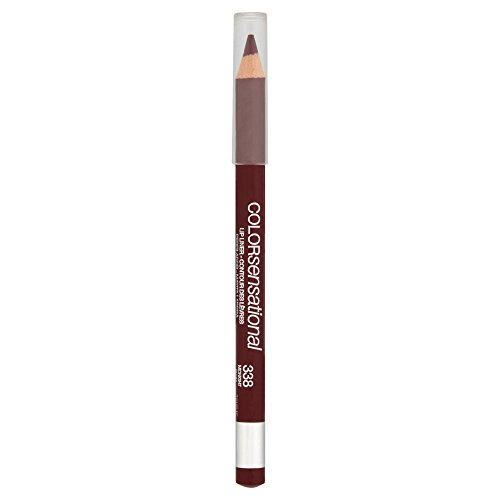 Maybelline Color Sensational Lipliner Nr. 338 Midnight Plum, Lippenkonturenstift, für eine makellose Lippenkontur, verhindert ein Verlaufen der Lippenfarbe, 2 g