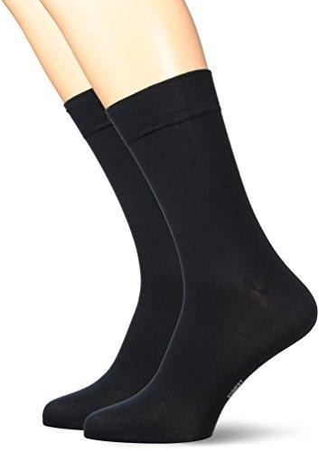 KUNERT Herren Socken, 871400 Comfort Cotton Mercerised Doppelpack, Schwarz (Black 0070), 47/50