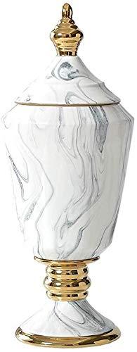 Florero Jarrón La decoración Adornos Hechos a Mano de la Sala gabinete del Vino de cerámica Disposición Crafts Flor de la Planta de la Flor Blanca 14.5 * 35.5 * 14.5cm Jarrón
