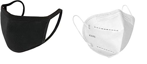sweetsaga Men's and Women's Non Woven KN95 Texus Mask with Nose Pin -Made In India (White)