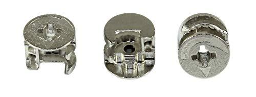 Hettich Möbelverbinder/Möbelbeschlag/Excenter, RASTEX 15 ohne Abdeckrand, Bohrdurchmesser ø15, Plattenstärke 19mm (20 Stück)
