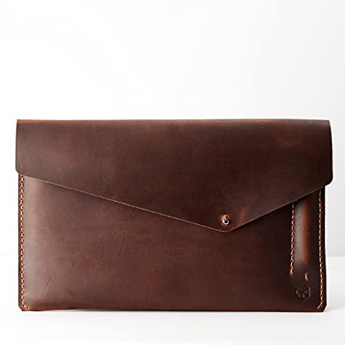 Capra Leather reMarkable 2 Tablet Case for Men, Tan Brown E-reader Folio, Handmade E-ink Digital Paper Sleeve, Protective Marker Holder. Mens Gifts