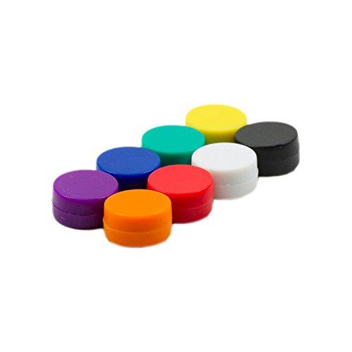 Magnetastico   8X Starke Neodym Magnete mit Schutzschicht   8 Farben   Größe 12x6 mm   Starke Supermagnete, Büromagnete   Mini-Magnete für Magnettafel, Kühlschrank, Whiteboard & Glasmagnettafel