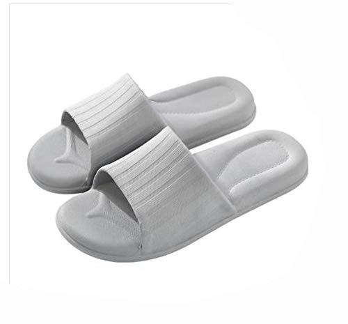 KIKIGO Zapatillas Piscina Mujer,Zapatillas de Ducha para el hogar, Sandalias de baño para Hombre Antideslizantes y Resistentes a los olores.-Gris Claro_EU 44