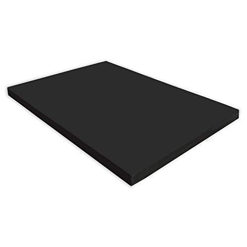 NiroSport Turnmatte 150 x 100 x 8 cm Gymnastikmatte Fitnessmatte Sportmatte Trainingsmatte Weichbodenmatte wasserdicht (Schwarz)