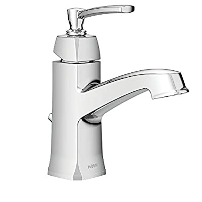 Moen WS84923 Conway One-Handle Single Hole or Centerset Bathroom Faucet with Drain Assembly, Chrome