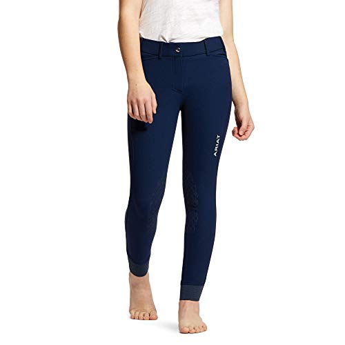 ARIAT Jugend Tri-Faktor Griff Knie Patch Reithose 10030996 - Navy